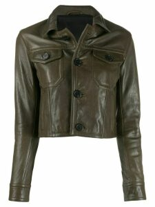 Ami Paris leather button front jacket - Green