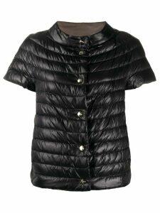 Herno short-sleeved quilted jacket - Black