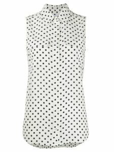 Equipment polka dot print silk shirt - White