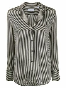 Equipment striped V-neck shirt - Black