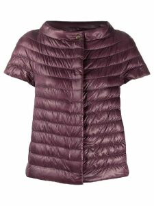Herno short-sleeved quilted jacket - PURPLE