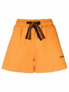 MSGM drawstring-waist track shorts - ORANGE