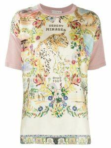 Etro desert mirages print panelled T-shirt - PINK