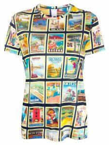 Ultràchic short sleeve poster print T-shirt - NEUTRALS