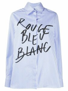 Être Cécile pointed collar marker print shirt - Blue