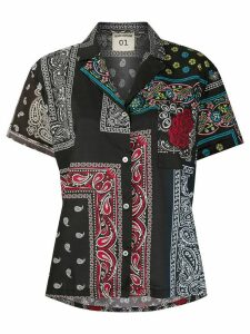 Semicouture bandana print oversized blouse - Black