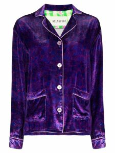 Helmstedt grape-print velvet shirt - PURPLE