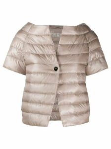 Herno short-sleeved quilted jacket - NEUTRALS