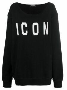 Dsquared2 Icon print sweatshirt - Black