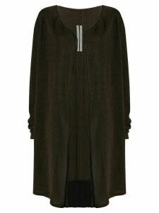 Rick Owens open front cardigan - Brown