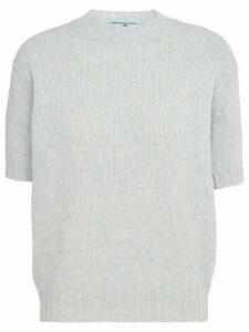 Prada knitted shortsleeved top - Grey