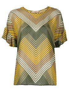 Twin-Set zig-zag print T-shirt - Green