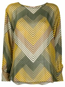 Twin-Set zig zag blouse - Green