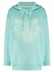 Kenzo Tiger motif hoodie - Blue