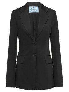 Prada single-breasted sateen blazer - Black