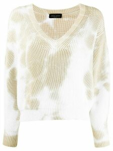 Roberto Collina tie-dye cropped jumper - NEUTRALS