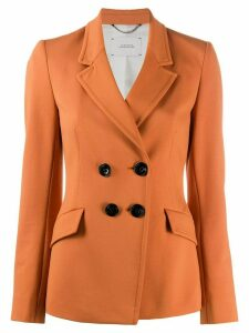 Dorothee Schumacher fitted double breasted blazer - ORANGE