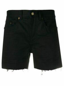 Saint Laurent distressed denim shorts - Black