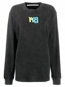 Alexander Wang long sleeve logo sweater - Black