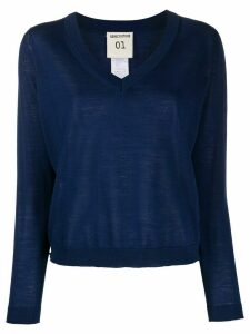 Semicouture Gertrude v-neck jumper - Blue