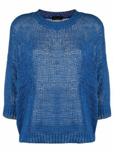 Roberto Collina chunky knit crew neck jumper - Blue