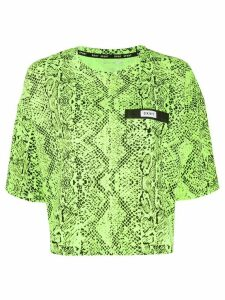 DKNY snakeskin-effect crew neck T-shirt - Green