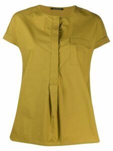 Luisa Cerano crew neck one pocket blouse - Green