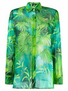 Versace jungle print silk shirt - Green