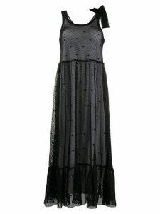 RedValentino mesh midi dress - Black