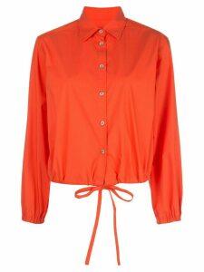 Harvey Faircloth drawstring-waist shirt - ORANGE