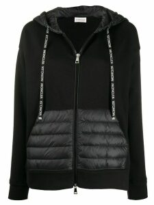 Moncler long-sleeved zipped hoodie - Black