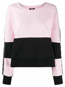 LIU JO color-block sweatshirt - PINK