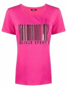 LIU JO bar code T-shirt - PINK