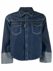Dsquared2 turned-up cuffs denim shirt - Blue