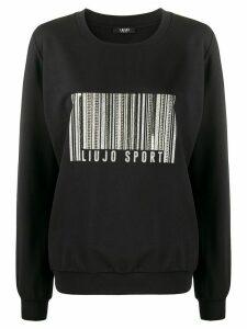 LIU JO embellished barcode sweatshirt - Black