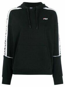Fila logo panelled hoodie - Black