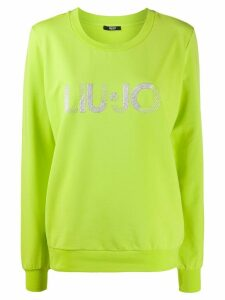 LIU JO logo embroidered sweatshirt - Green
