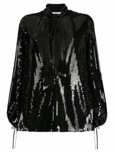 Amen sequin pussy bow blouse - Black
