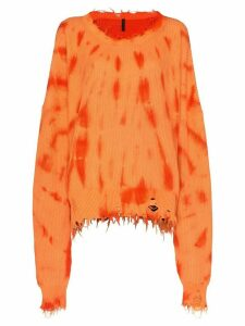 UNRAVEL PROJECT tie-dye slouchy knit jumper - ORANGE