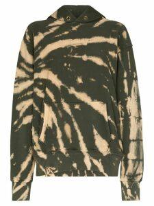Les Tien cropped tie-dye hoodie - Green
