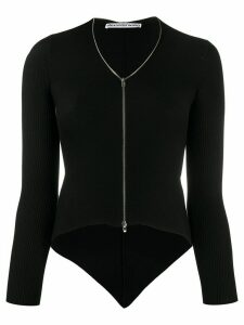 Alexander Wang ribbed cropped cardigan - Black