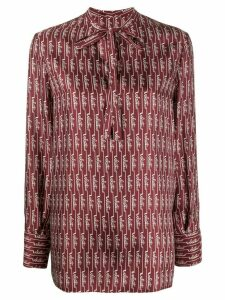 Valentino logo-printed blouse - Red
