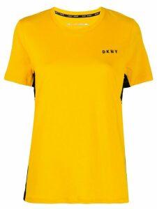 DKNY logo panel T-shirt - Yellow