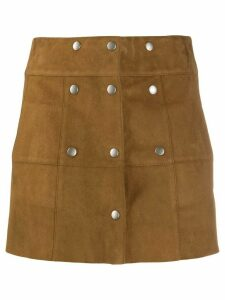 Saint Laurent buttoned mini skirt - Brown