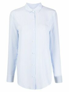 Equipment pinstripe silk shirt - White