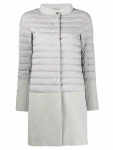 Herno contrast-panel quilted-down coat - Grey