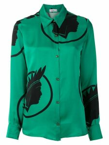 Amir Slama silk Índio shirt - Green