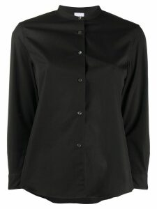 Aspesi plain mandarin collar shirt - Black