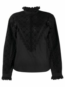 Philosophy Di Lorenzo Serafini cotton embroidered long sleeve shirt -