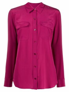 Equipment straight-fit shirt - PINK